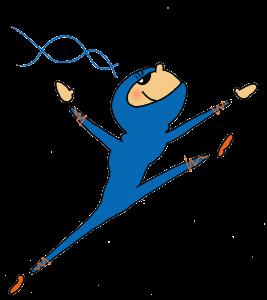 Ninja macht Luftsprung
